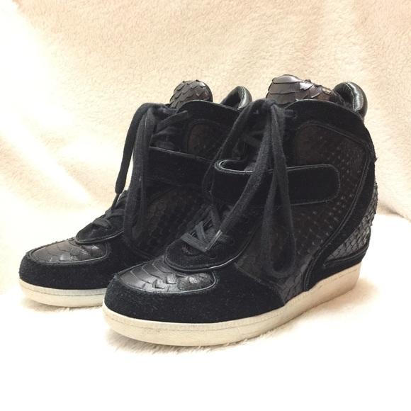 40c709d5e291 Ash Shoes - Ash Bowie Hidden Wedge Sneaker Snake Print Leather